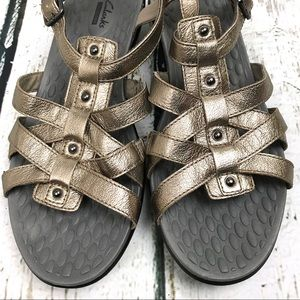 Clarks Shoes - Clark's Collection Metallic Gold Sandals Sz 11